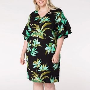 Lauren Ralph Lauren Floral Print Plus Size Dress